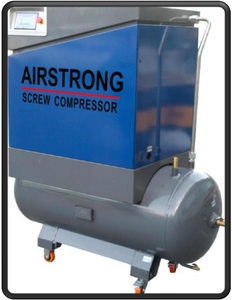 AIRSTRONG 10HP SCREW COMPRESSOR W/260L ASME TANK, MODEL:ASAMT10HP - Aikchinhin