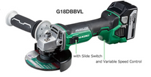 "Load image into Gallery viewer, Hikoki 18V 125mm (5"") Brushless Cordless Disc Grinder with Brake System 