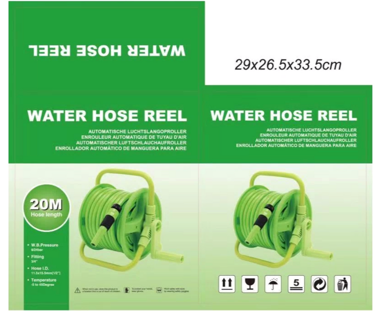 "Airstrong 1/2"" Green Garden Hose Reel 