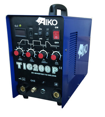 Aiko Tig200P 1P/220V (Pulse) Welding Set W/8M Tig26 Torch+3M Weld+3M Earth Cable | Model : W-TIG200P