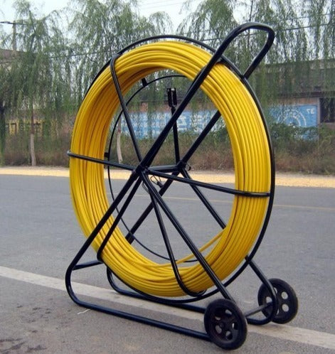 Aiko Yellow Industrial Cable Puller with wheels | Cable Thickness : 12mm x 200m (CPS-12200) , 14mm x 200m (CPS-14200) - Aikchinhin