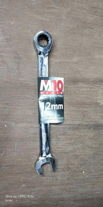 M10 Gear Ratchet Long Combination Wrench | Model : 005-053 | Size : 6mm - 32mm