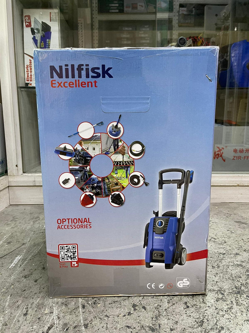 Nilfisk 130 bar High pressure cleaner with Metal Pump & Free Vacuum Cleaner | Model : E130.3-8