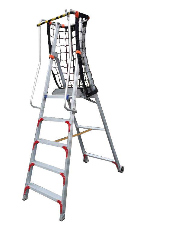 XG Aluminium Platform Shelf Ladder with Handle & Toe Box | Sizes : 4 Steps to 8 Steps | Model : L-XG152EAD - Aikchinhin