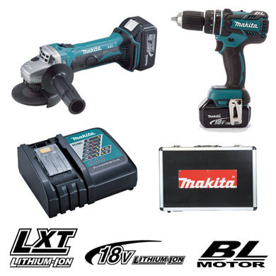 MAKITA 18V CORDLESS COMBO KIT DLX 2160 TX, Includes Cordless Driver Drill, Cordless Angle Grinder and - Aikchinhin