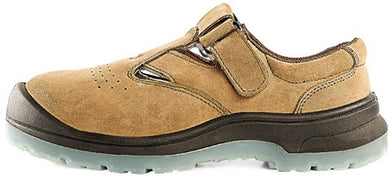 D&D Tanned Low Cut & Strap on Weather proof Safety Shoe | Model : 9818 | Sizes : #5, #6, #7, #8, #9, #10, #11, #12