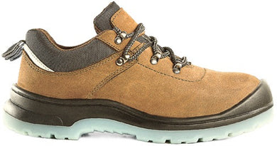 D&D Tanned Low Cut & Laced Weather proof Safety Shoe | Model : 9838 | Sizes : #4, #5, #6, #7, #8, #9, #10, #11