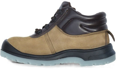 D&D Tanned Mid Cut & Laced Weather proof Safety Shoe | Model : 9868 | Sizes : #4, #5, #6, #7, #8, #9, #10, #11 - Aikchinhin