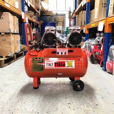 Tiger 3HP 50L 220V Oil Free Air Compressor (EXPORT ONLY) | Model : A-OF-550*2/50L