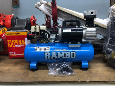 Rambo DC12V 142L/min Air Compressor | Model : DC12V | Tank Sizes : 9L or 25L