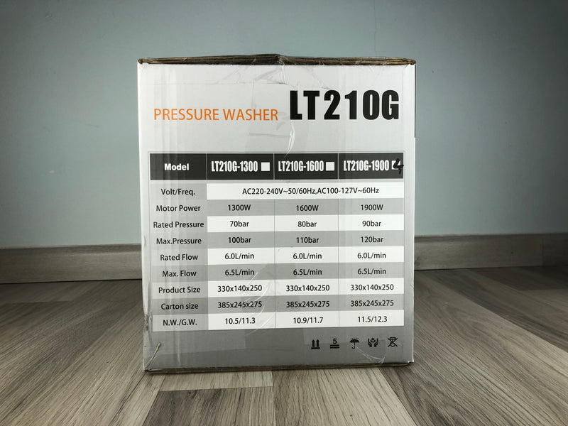 Lutian 120Bar Portable HP High Pressure Cleaner (Washer) | Model : LT-210G-1900