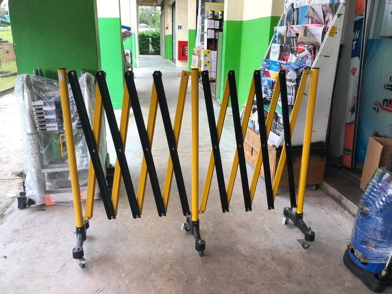 Aiko Yellow & Black 3-Tier Expandable Metal Gate with WHEELS | Model : GATE-7616 - Aikchinhin