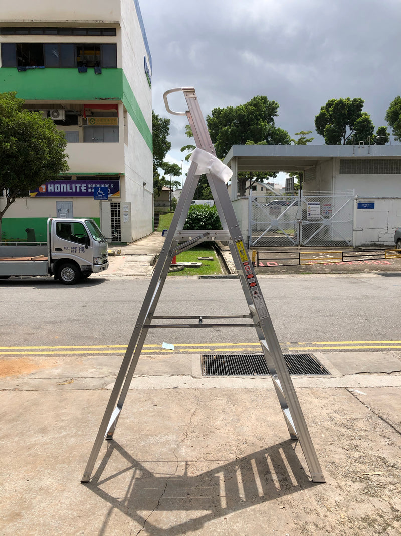 XG Aluminium Platform Shelf Ladder, C-Type | Sizes : 3 Steps to 12 Steps | Model : XG152EA - Aikchinhin