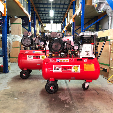 Tiger 3HP 220V Belt Driven Air Compressor (Export only) | Model : A-3008 | Tank Size : 30L, 50L