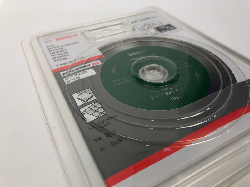 "BOSCH 4"" Green Wet Diamond Blade 