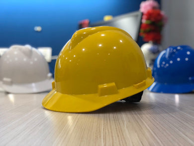 MSA Ratchet Safety Helmet | Colours : White, Yellow, Blue - Aikchinhin
