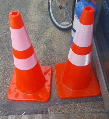 Aiko 70cm Safety (Traffic) Cone | Soft & Unbreakable | Model : CONE-7093