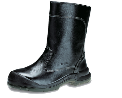 KING'S Black Leather Zip-up Boots Safety Shoe | Model : KWD 804, Sizes : #4 (38) - #11 (45) - Aikchinhin