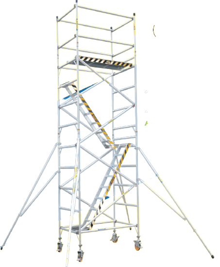 XG Aluminium Scaffolding With 45 Degree Stairway Towers | Model : L-XG178SS