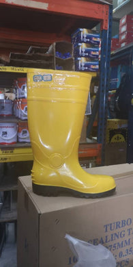 SuperSun Yellow Safety Boots with Steel Toe Cap + Bottom Steel Plate | Model : YB-SD | Sizes : US 7- 12 - Aikchinhin