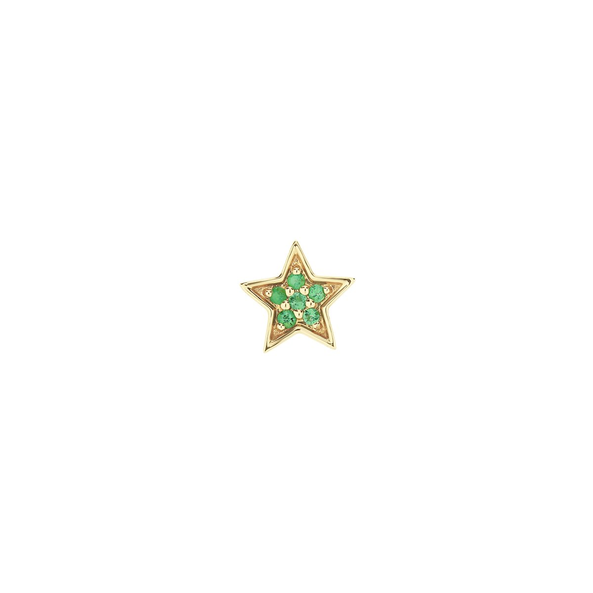 Mini Star Emerald Stud