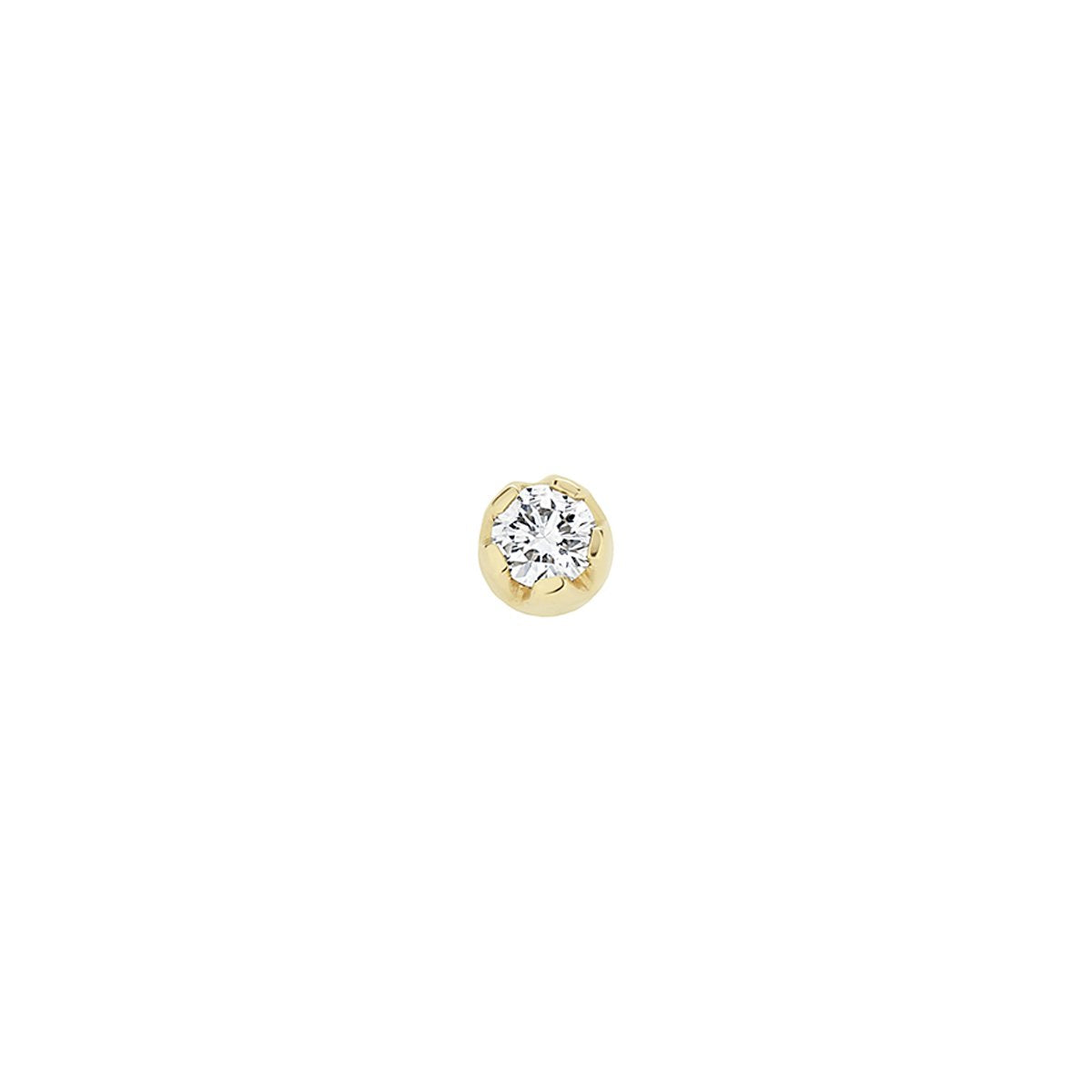 Single Diamond Large Stud