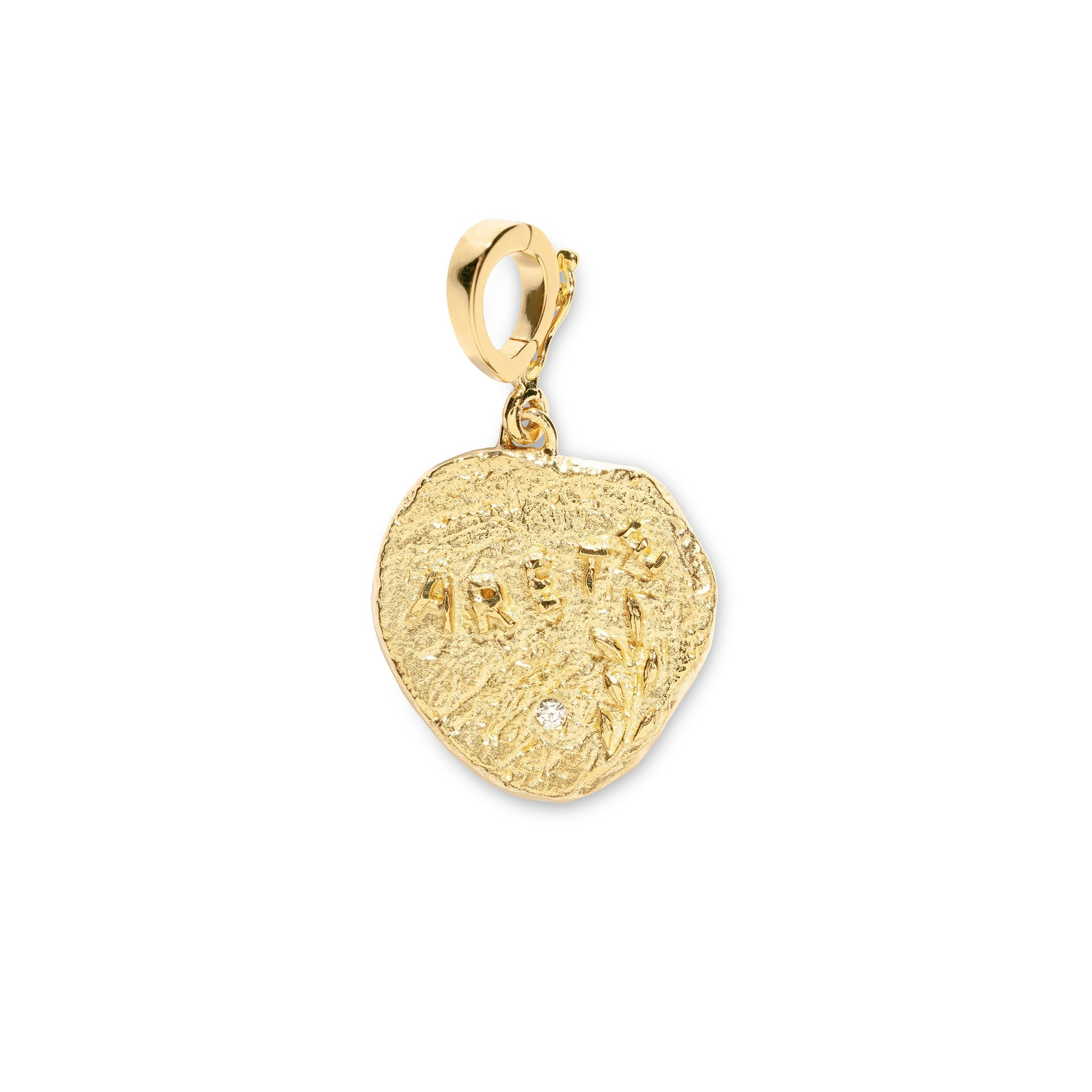ARETE VIRTUE DIAMOND SMALL COIN CHARM