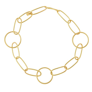 Universe 3 Spiral Chain Bracelet - Yellow Gold
