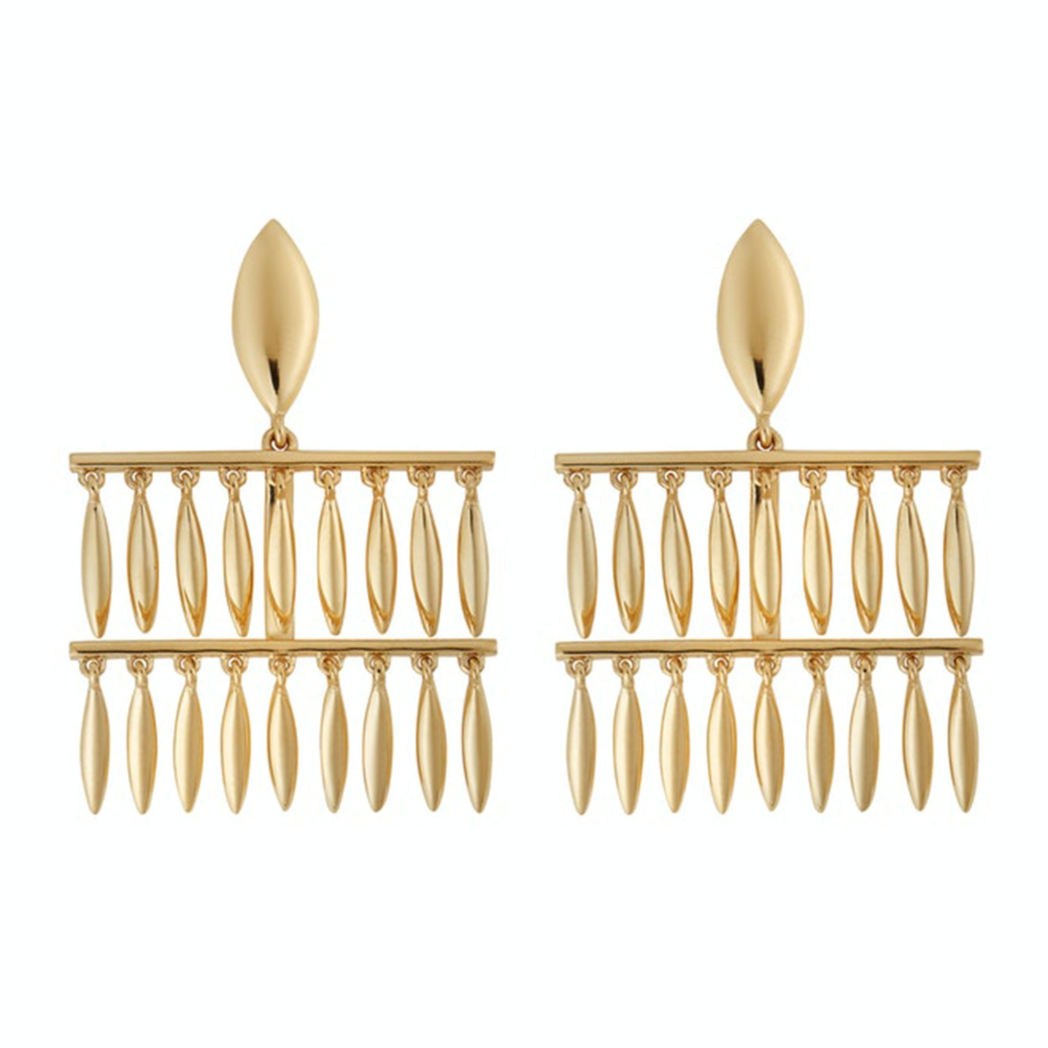 Grass Mini Raining Drops Earrings