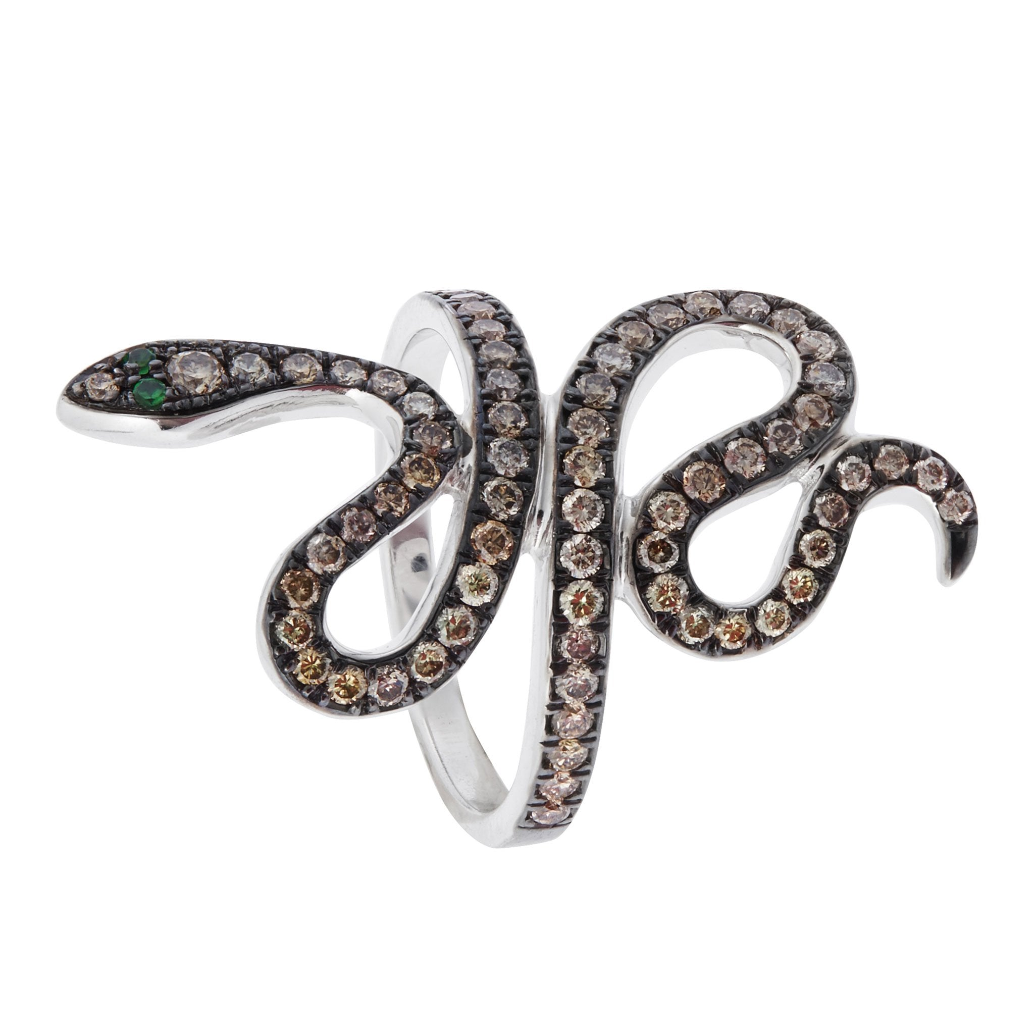 Slither Snake - White Gold
