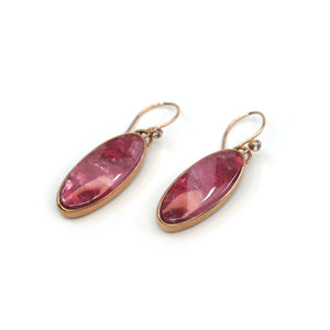 Smooth Pink Tourmaline Earrings