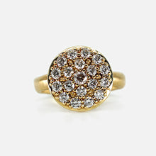 Load image into Gallery viewer, Large Round Diamond Pavé Cluster Ring