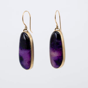 Asymmetrical Sugilite Earrings