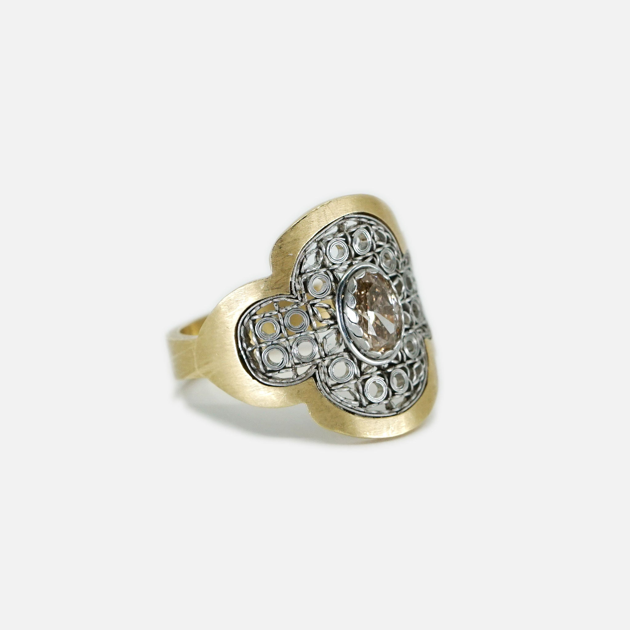 Comfort Ring with Champagne Diamond