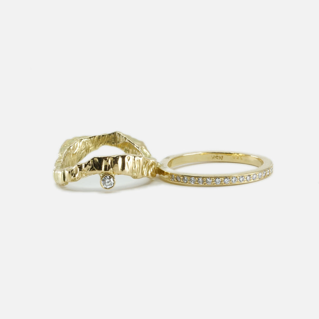 Double Trouble Ring  - White Diamonds