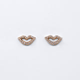 Smile Stud Earrings - Rose Gold