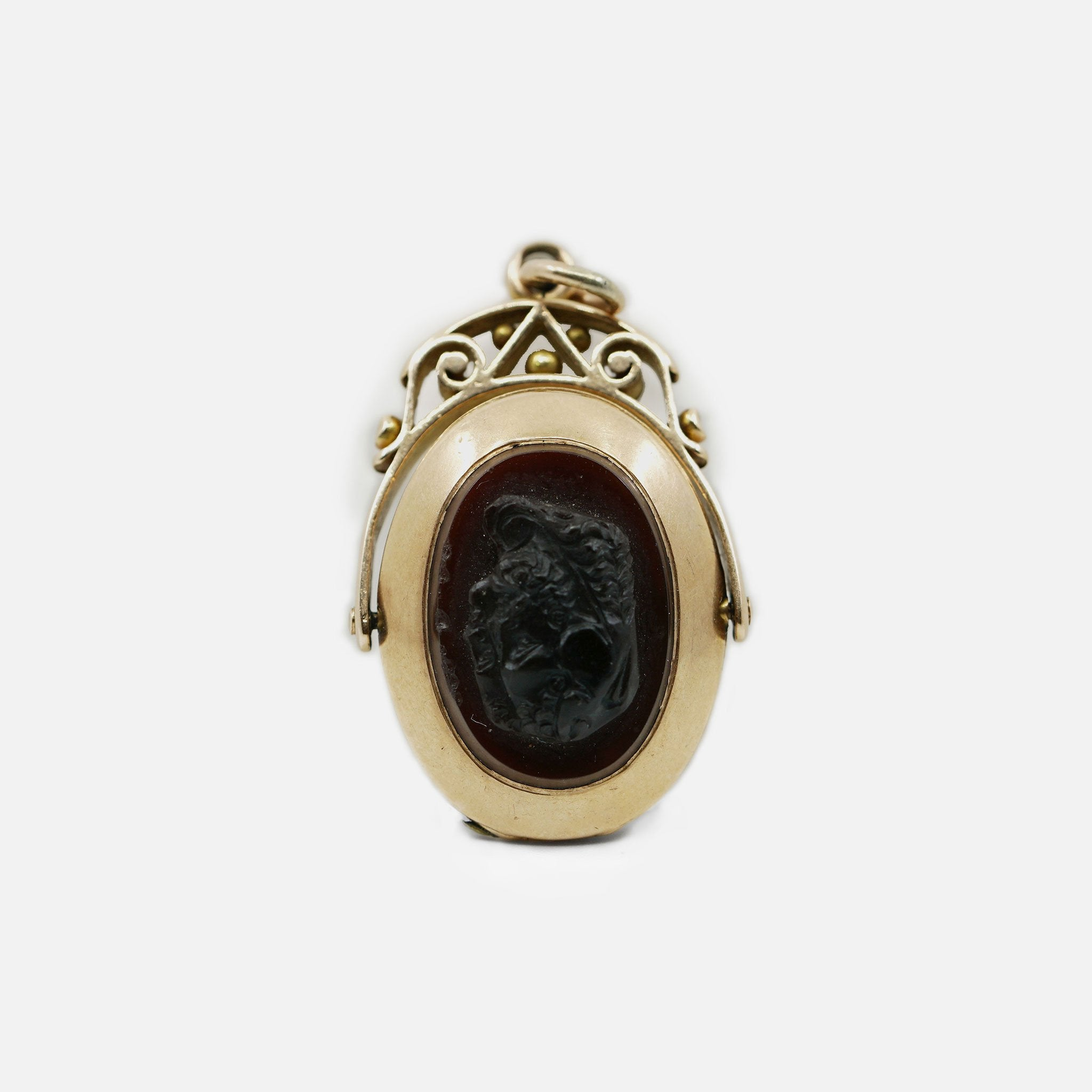 1800's Cameo Carnelian Locket