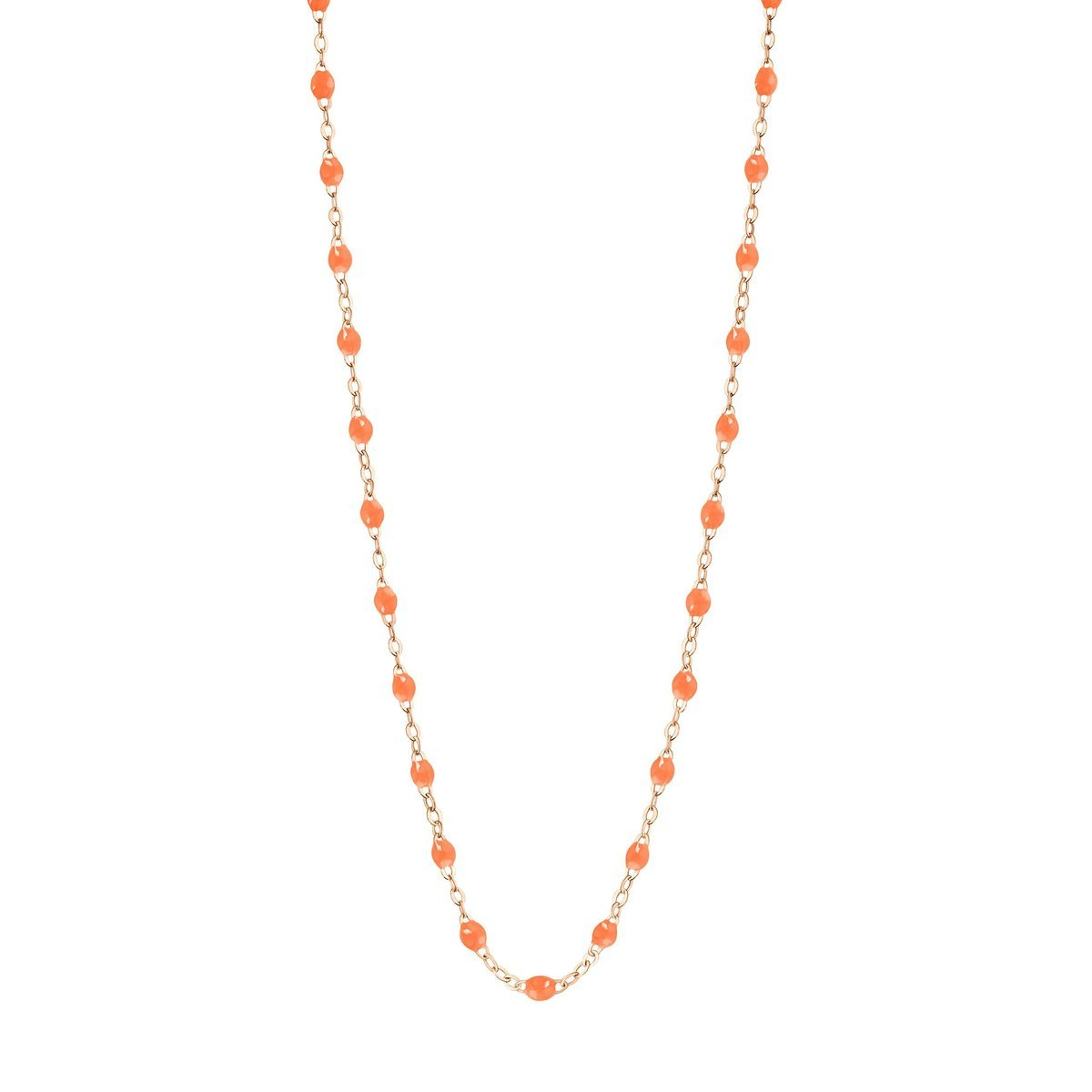 "Classic Gigi Orange 18"" Necklace - Rose Gold"