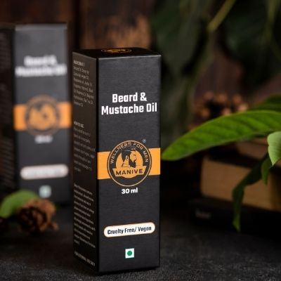 Beard & Mustache Oil by Manive | Brown Living