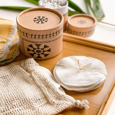 Bamboo Reusable Makeup Removing Wipes by OnEarth on Brown Living