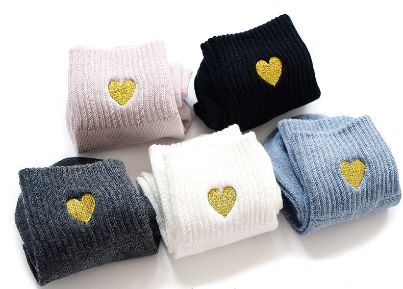Women's Warm Thermal Winter Cotton Socks 5 Pairs/ Lot Heart Love Design Comfortable Premium Quality Women's Socks Womens Cotton Socks - Ecodesignstore