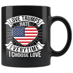 LoveTrumps Black Mug Drinkware - Ecodesignstore