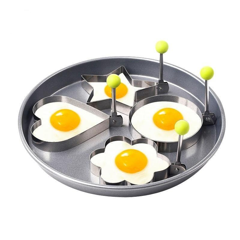 4Pcs/set Stainless Steel Omelette Egg Frying Mold - Love, Flower, Circle & Star Moulds Kitchen - Ecodesignstore