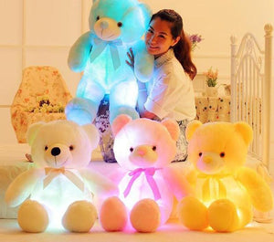 Light Up LED Teddy Bear Plush Toy Colorful Glowing Teddy Bear Plush Toy - Ecodesignstore