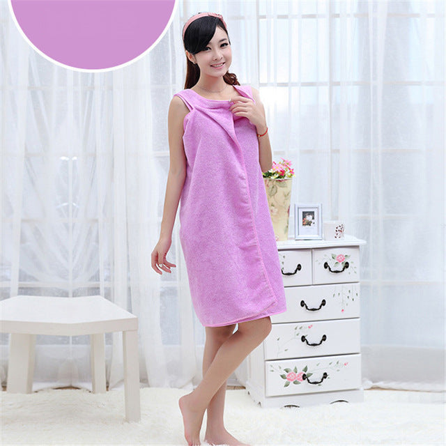 Microfiber Women's Bath Towel - Wearable Beach Towel Soft Beach Wrap Skirt Super Absorbent Womens Towel - Ecodesignstore