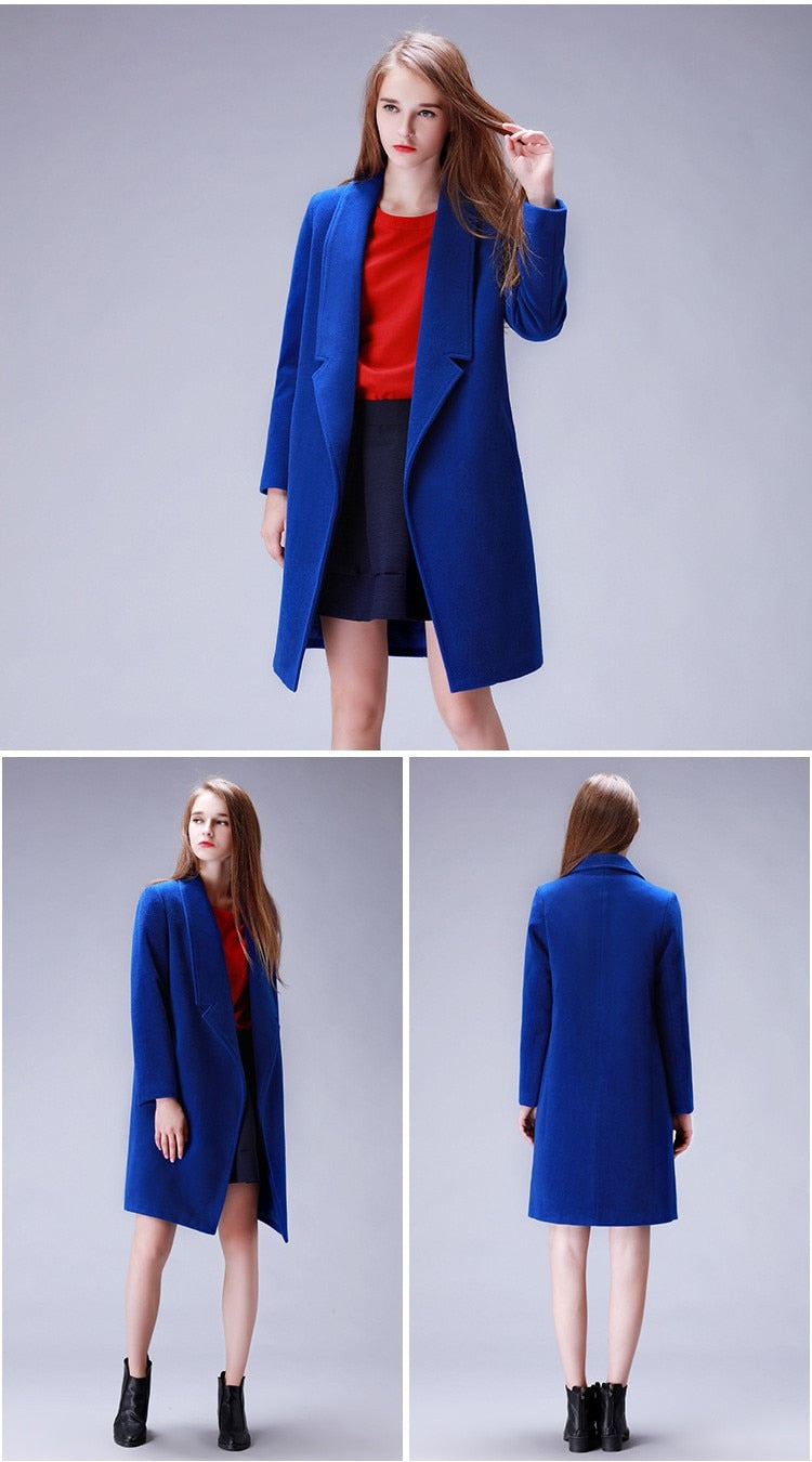 Cashmere Wool Long Women's Warm Winter Coat Cotton-padded Womens Cashmere Coat - Ecodesignstore