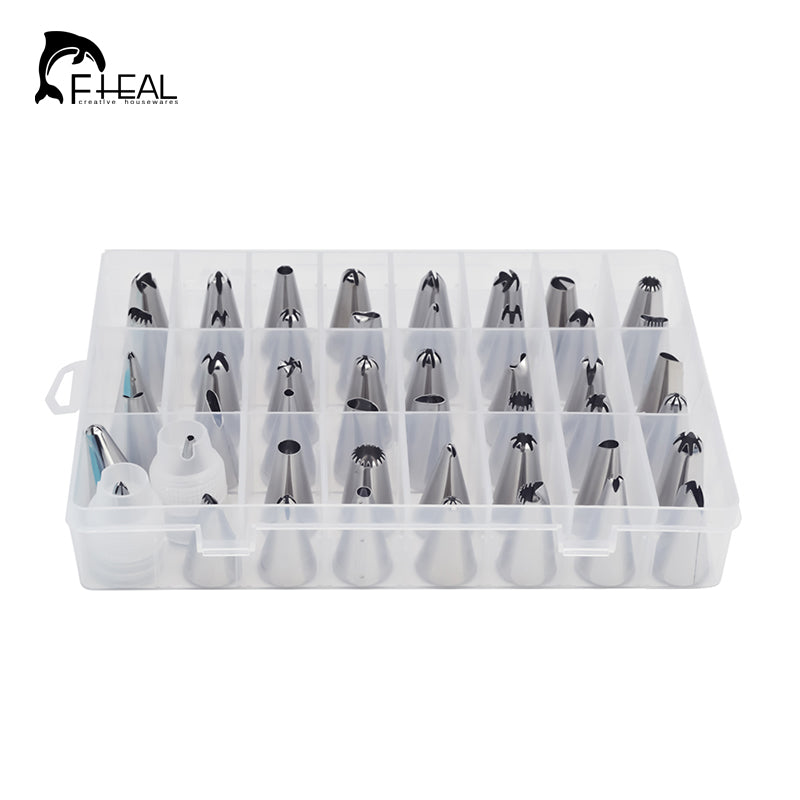 51pcs/set Dessert Decorators Silicone Icing Piping Cream Pastry Bag+48 Stainless Steel Nozzle Set DIY Cake Decorating Tips Kitchen - Ecodesignstore