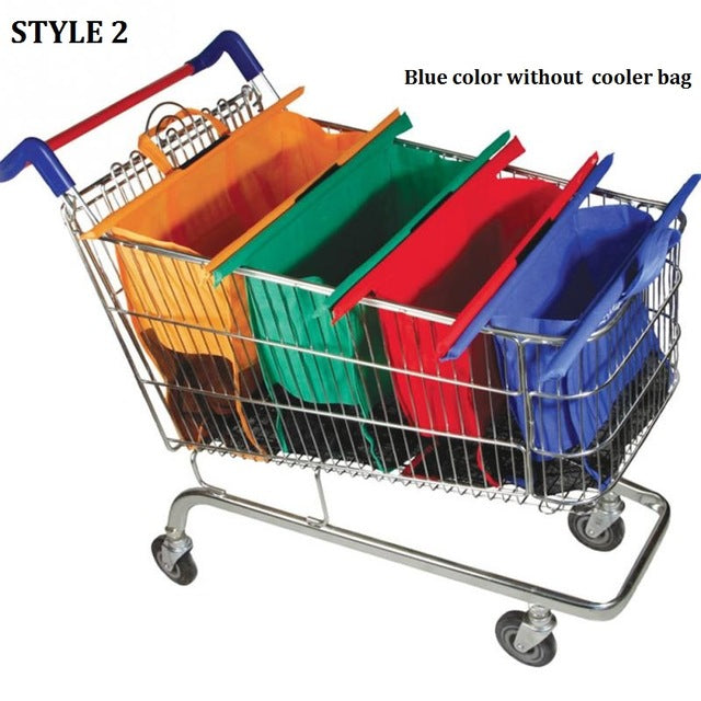 Eco-friendly Reusable Supermarket Bags 4pcs/set  - Ecodesignstore