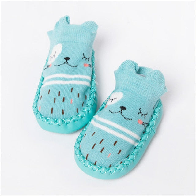 Newborn Infant Cute Anti Slip Baby Socks With Rubber Soles Baby Socks - Ecodesignstore