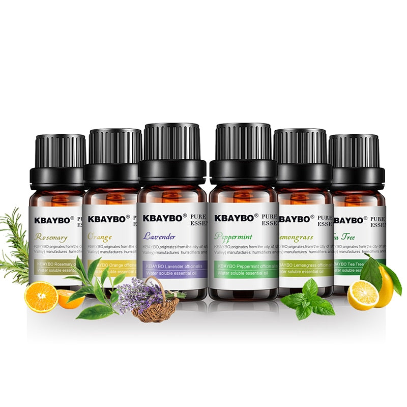 Essential Oils for Diffuser, Aromatherapy Oil Humidifier 6 Kinds Fragrance of Lavender, Tea Tree, Rosemary, Lemongrass, Orange Aromatherapy Oil - Ecodesignstore